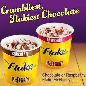 Flake McFlurry available now at McDonald's from 99p