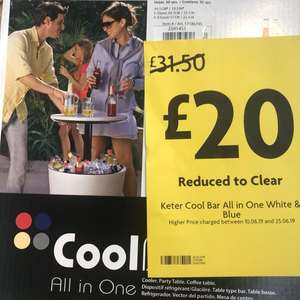 Keter Cool Bar reduced to clear at Morrison's - £20