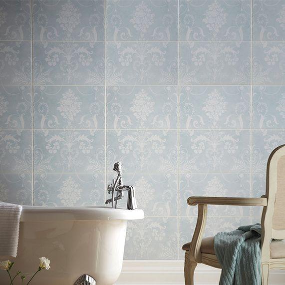 Bathstore Administration -SALE 80% OFF - Laura Ashley Josette Uno Decor Duck Egg Blue Wall Tile - £9.20