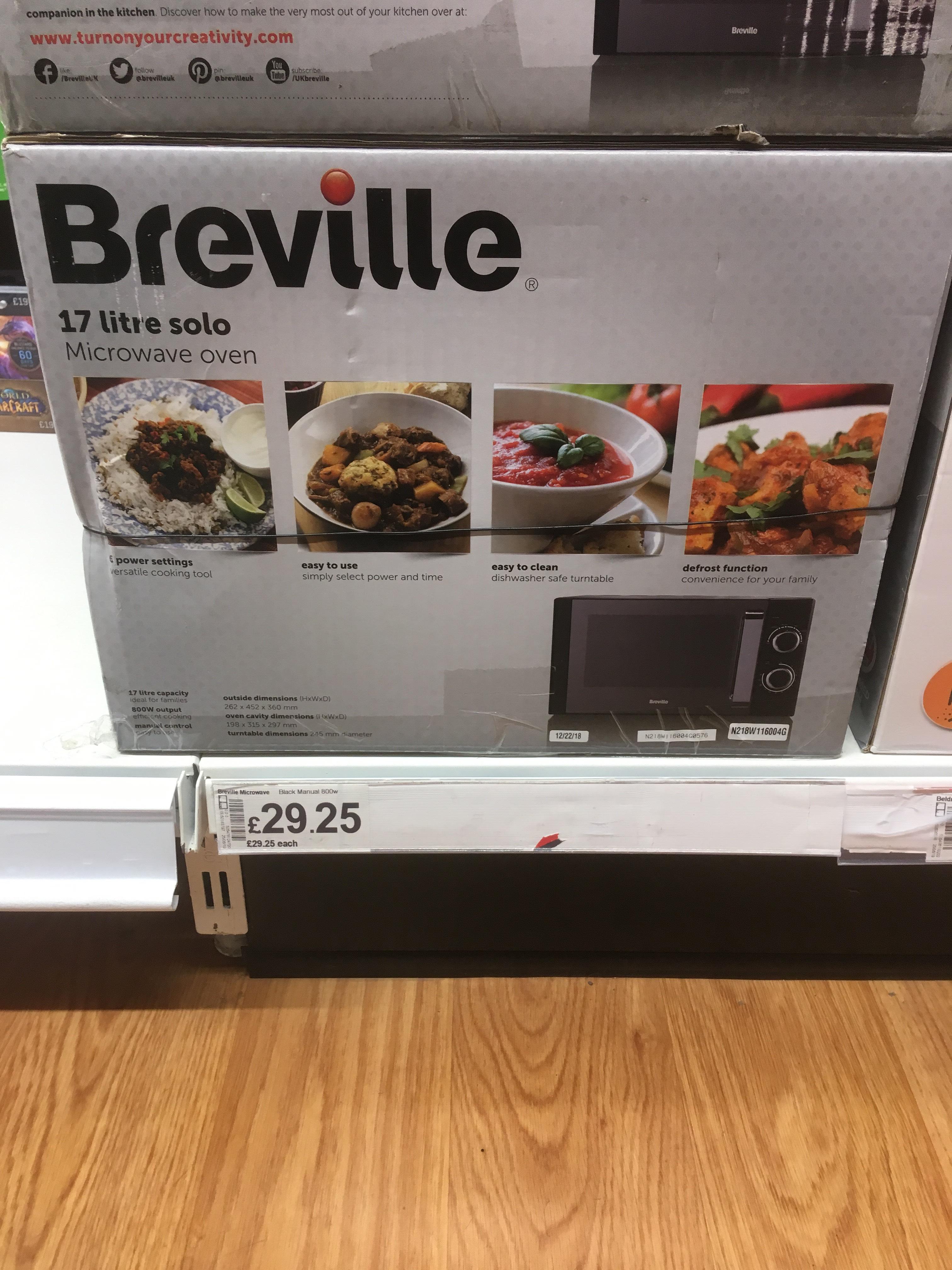 Breville 800w microwave @ Asda instore £29.95.