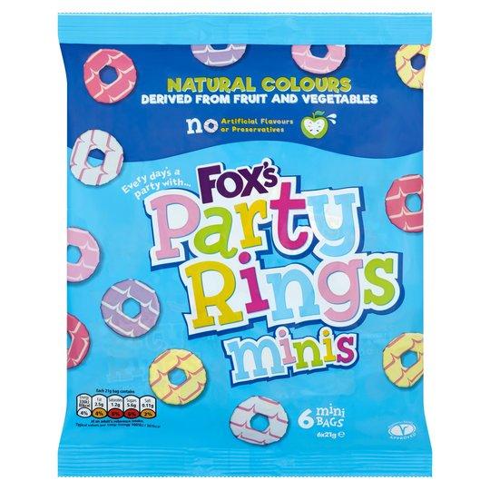 Fox's Mini Party Rings 6 x 21g 75p @ Tesco