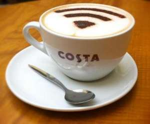 Get a free coffee from Costa Coffee VeryMe Vodafone