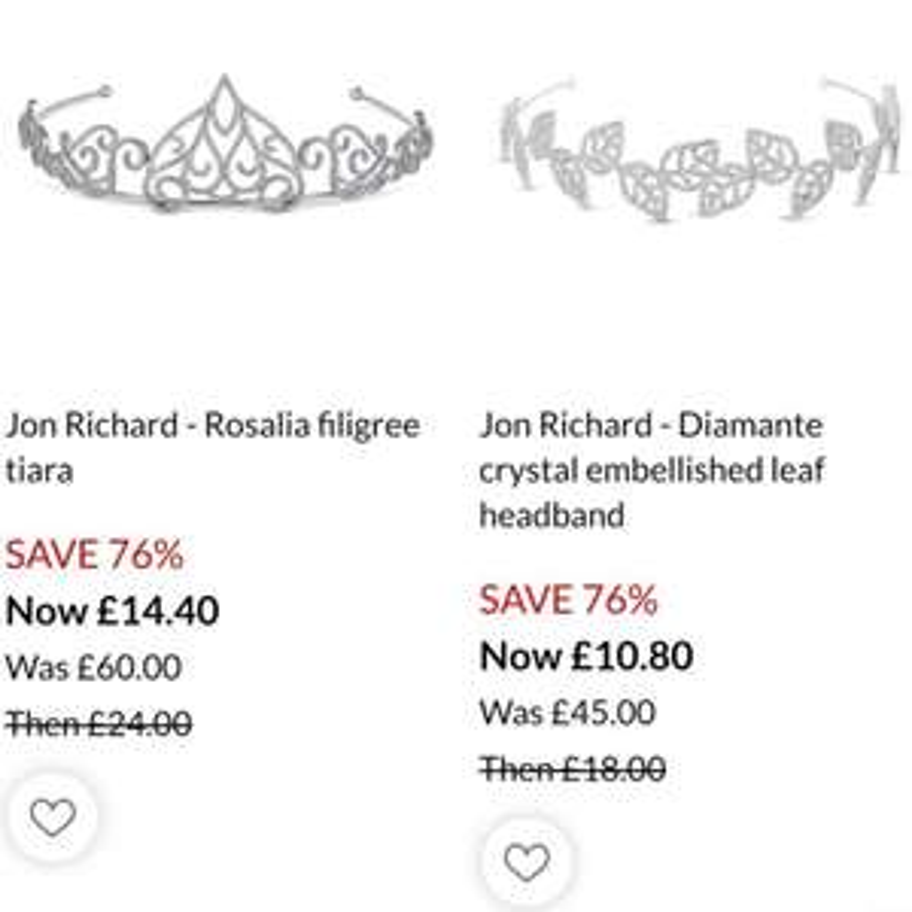 Huge discounts on Jon Richard Jewellery @ Debenhams - from £1.20