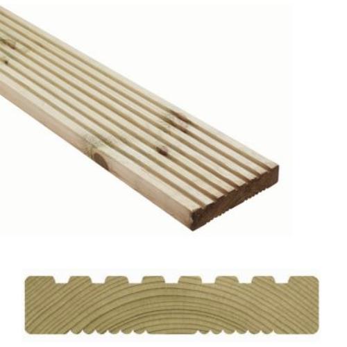 Wickes Premium Pressure Treated Deck Board 28mm X 140mm X 2.4m £5 each @ Wickes