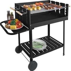 Deluxe Charcoal Rectangle Steel Party BBQ £50 Argos