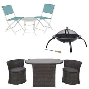 30% off Selected Garden & Outdoor items with code - EG: Miami 3 Piece Bistro Set £34.45 Delivered @ George - See OP