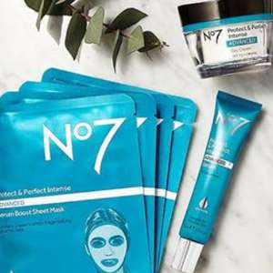 Free No7 Protect and Perfect Intense ADVANCED Serum Boost Sheet Masks worth £25 wys £25 on No7 - stacks with 3 for 2 offers @ Boots
