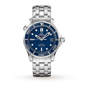 Omega Seamaster 300M 41mm Mens Divers Watch Black Dial or Blue Dial with 5 Year Guarantee now £2600 at Goldsmiths