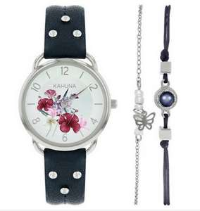 Less Than Half Price Kahuna Silver Dial Ladies Watch and Bracelet Set (More in OP)- £8.49 + Free C&C @ Argos