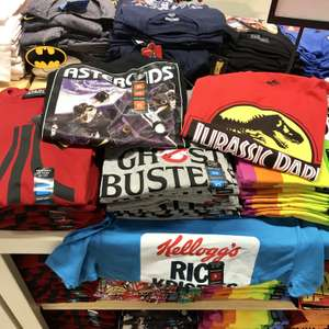 Classic 80s & 90s t-shirts only £6 @ Primark - Goonies, Ghostbusters, Atari, Jurassic Park, Asteroids etc.
