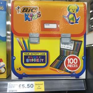 Bic 100 piece kids colouring & sticker case with carry case £5.50 at Tesco instore