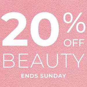 20% off all beauty including sale items @ House of Fraser