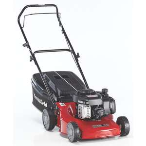 MOUNTFIELD HP185 45CM 125CC HAND-PROPELLED ROTARY PETROL LAWN MOWER £159.99  Screwfix