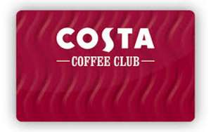 Costa Coffee - 100 bonus points for returning in the afternoon (must have been in the morning) -  selected Costa Coffee Club members