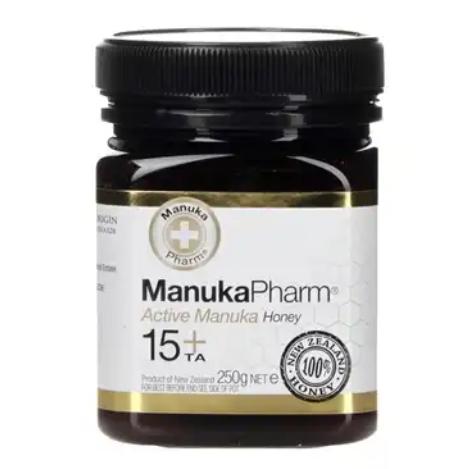 Holland and Barrett - Manuka Pharm Active Manuka Honey 15+ 250g now£6.74 ( £10.11 for 2 jars)