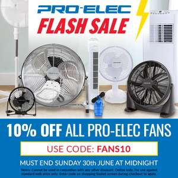 pro-elec Fans with a exta 10% off at CPC