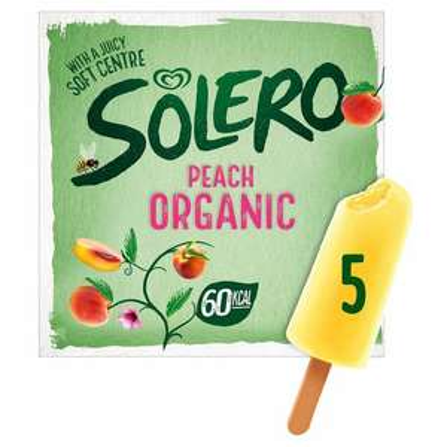 Solero Organic Lemon / Peach Ice Cream Lolly 260ml (5 pack) - 79p @ Heron Foods