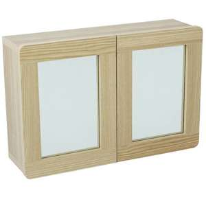 Argos Home Caleb 2 Door Mirrored Wall Cabinet - Two Tone, £12 at Argos (Free C&C)