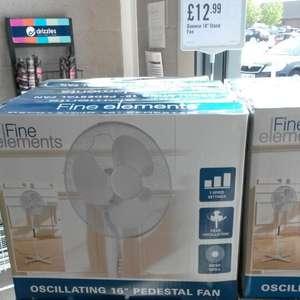 Daewoo Fine Elements 16 inch Oscillating Pedestal Fan - £12.99 @ Iceland Food Warehouse Preston