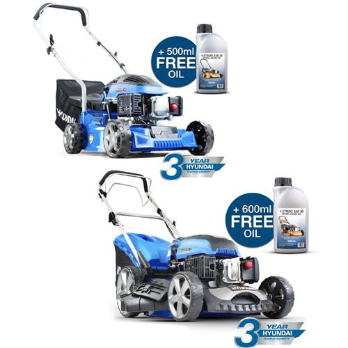 20% + Extra 10% off w/code on Hyundai Power Tools - 79cc 4-stroke Petrol Lawn Mower £97.19 + Free Oil  @ Ebay / hyundaipowerequipmentdirect