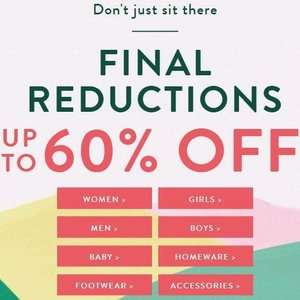 Joules - Final Reductions - Up To 60% Off - Free Click & Collect - Examples in OP