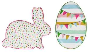 Argos Home Easter Bunny or Easter Egg Dish  (1 Provided)  70p  free c&c @ Argos