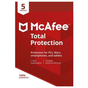 McAfee 2018 Total Protection 5 Device Guard Against Viruses & Online Threats - £9 at Tesco Outlet eBay