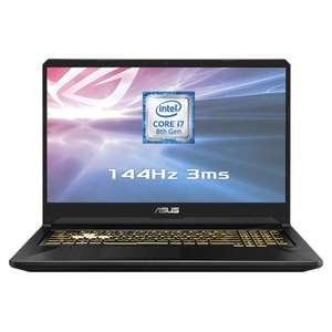 "Grade A - Asus 17.3"" Gaming Laptop - i7 8750U / 16GB RAM / 144Hz FHD / 1060 6GB / 1TB HDD + 256GB SSD £779.99 @ Laptop Outlet"