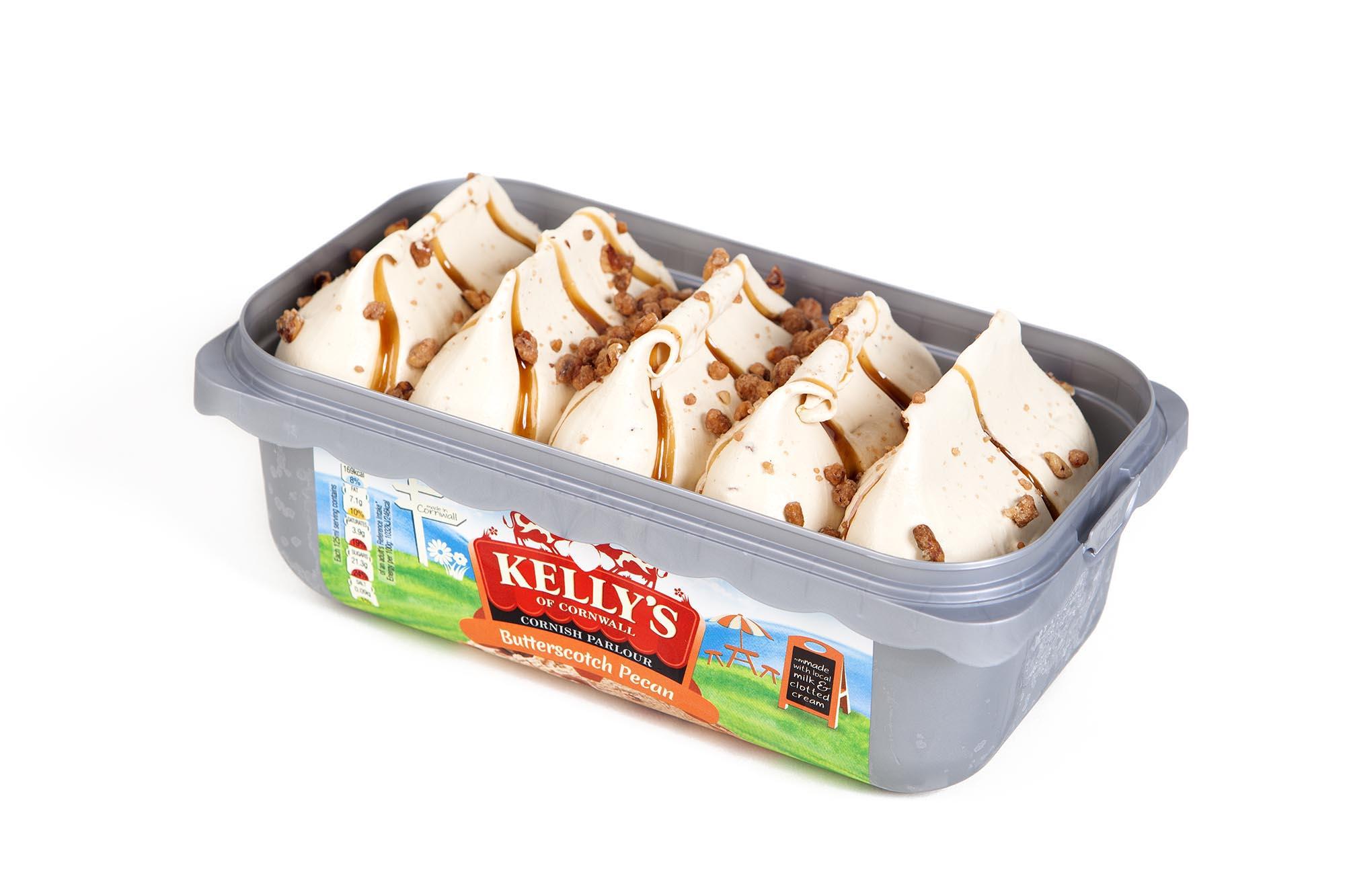 Kelly's Cornish Parlour Butterscotch Pecan Ice Cream (950ml) - £1.50 @ Heron Foods