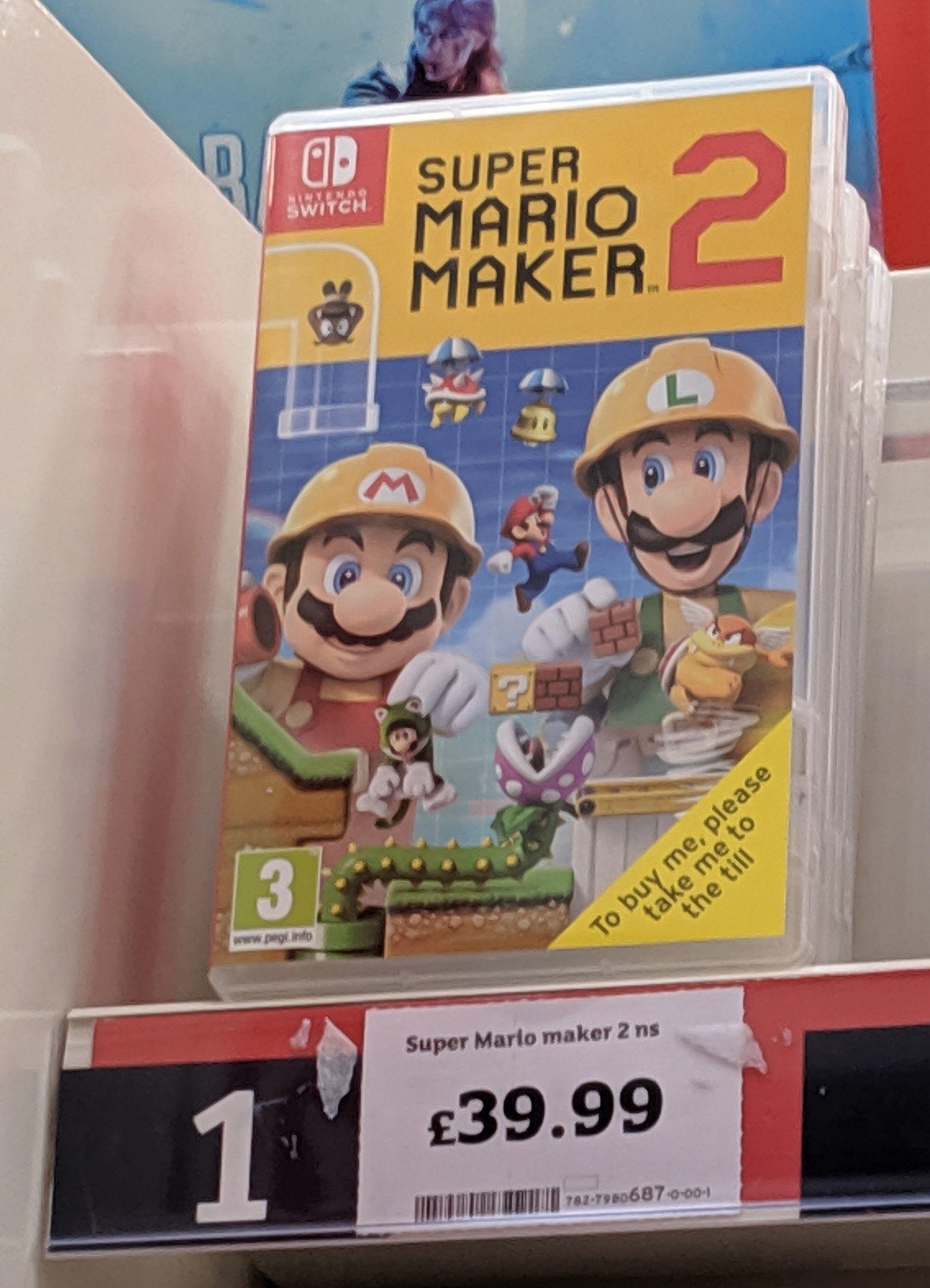 Super Mario Maker 2 - £39.99 @ Sainsbury's instore