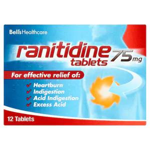 Poundland - Rantidine 75mg - Box of 12 - £1