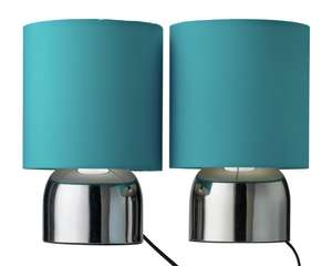 Home Pair of Touch Table Lamps - Teal for £9.99 @ Argos