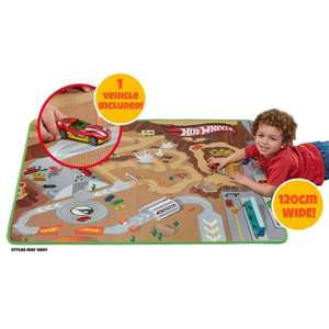 Hot Wheels Play Mat and Vehicle £5 @ B&M (In-Store)