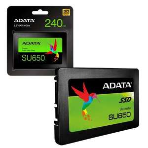 ADATA SU650 240GB 3D NAND 2.5 inch SATA III High Speed Internal SSD Solid State Drive for £24.89 Delivered @ 7dayshop