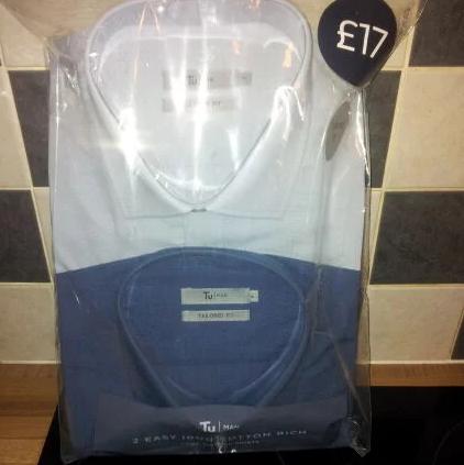Cheap Work Shirts - Twin pack - £8.50 @ Sainsbury's