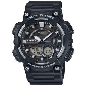 Casio Mens Watch with World Time - Blue Resin Strap, £17.63 with code at MyMemory