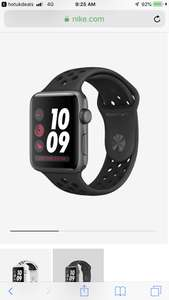 Apple Watch Nike+ GPS Series 3 (42mm) Open Box @ Nike - FREE delivery + 7% Topbashback