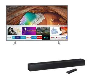 "SAMSUNG QE55Q67RATXXU 55"" Smart 4K Ultra HD HDR QLED TV & HW-N300 2.0 Compact Sound Bar Bundle"