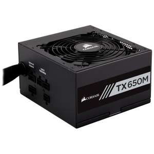 Corsair TX650M 650W 80 Plus Gold Semi Modular Power Supply - £62.76 at Amazon
