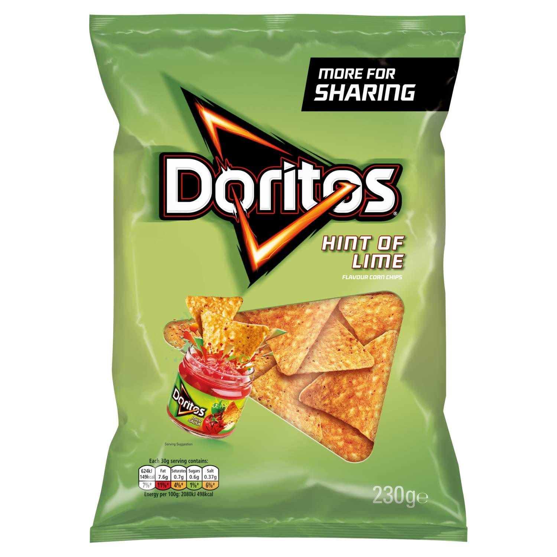 Doritos Hint of Lime Tortilla Chips, 9 x 230 g @ Amazon £7.94 Prime £12.43 Non Prime