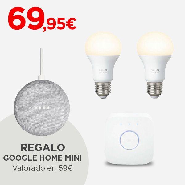 Google Home Mini + Philips Hue kit £68 El corte Ingles (shipping from Spain)