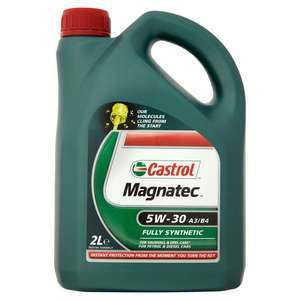 Castrol Magnatec 5W-30 C3, 10/40, 5W 30 A5  2L £9 at Tesco