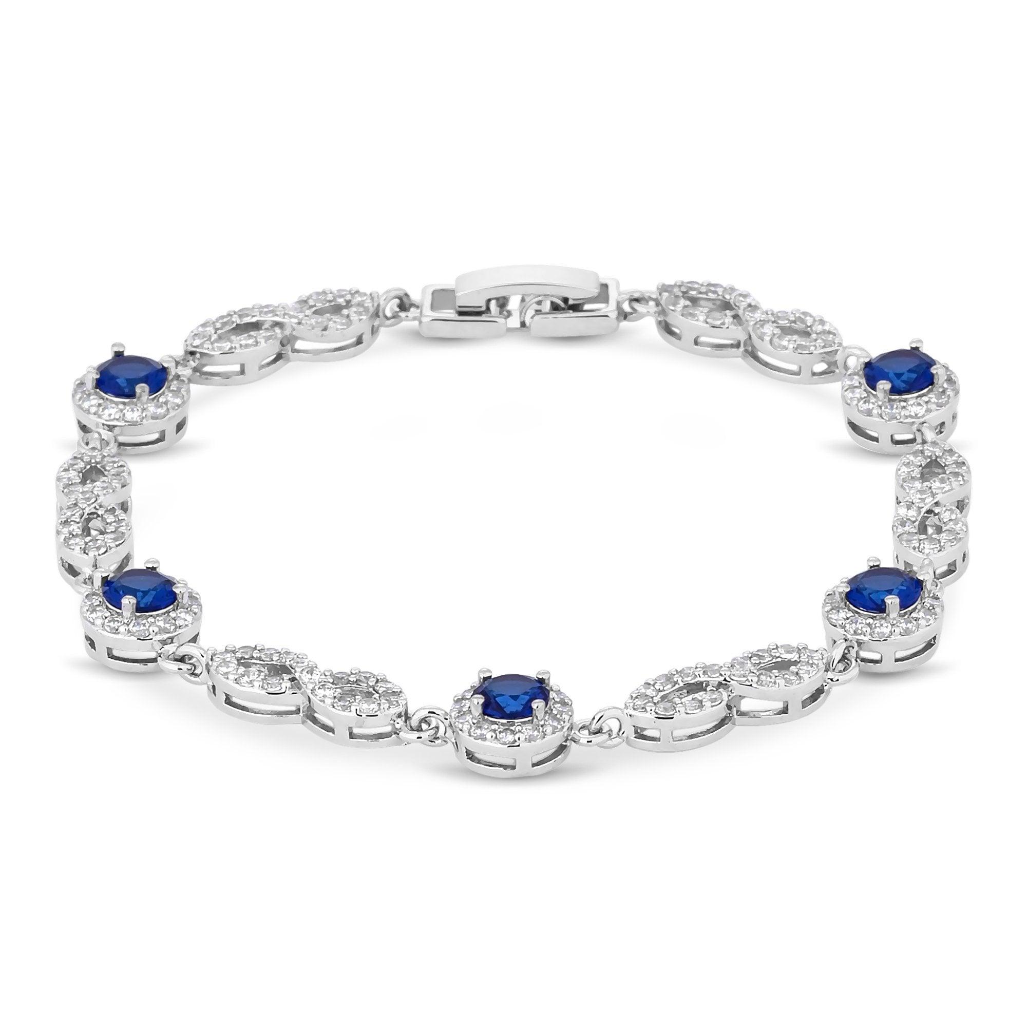 Jon Richard-Silver plated blue cubic zirconia montana infinity pear drop bracelet - £15 @ Debenhams Free C&C