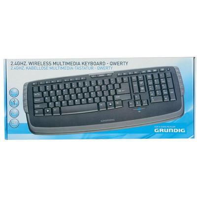 Grundig 2.4GHz Wireless Multimedia Keyboard £3 @ B&M