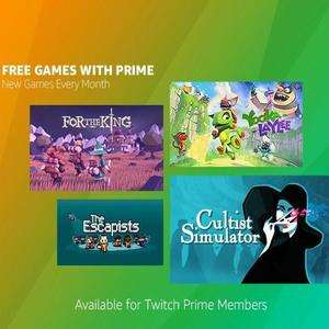 [PC] Yooka-Laylee, The Escapists, For the King & Cultist Simulator - Free - Amazon Twitch Prime
