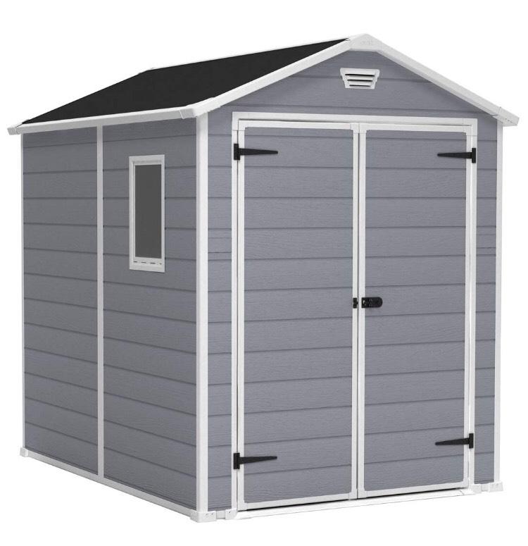 Keter Manor Outdoor Plastic Garden Storage Shed, Grey, 6 x 8 ft £364.98 @ Amazon