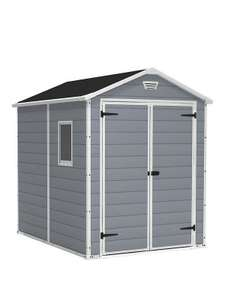 Keter Manor 6 x 8 Apex resin shed £280.98 delivered @  Very