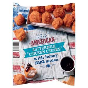 American Buttermilk Chicken Chunks with Honey BBQ Sauce 400g for £1 @ Iceland