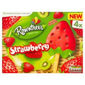 Rowntrees Strawberry  Ice Lollies 4 x 73ml £1 @ Iceland
