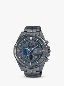 Casio EFR-556GY-1AVUEF Men's Edifice Chronograph Date Bracelet Strap Watch, Gunmetal £90 John Lewis & Partners
